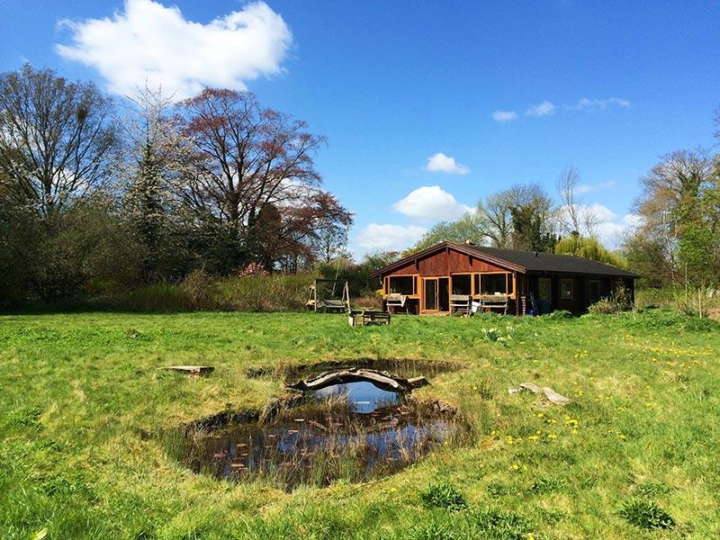 Tupa Finnish Log Cabin, Penley Hall, Penley, Wrexham